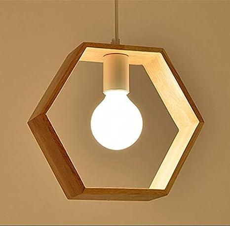 Moderna Luz Colgante Lámpara de Techo, E27 Retro Lámpara de Techo Iluminación Decorativa, Iluminación Colgante de Madera Clásica para Restaurante ...