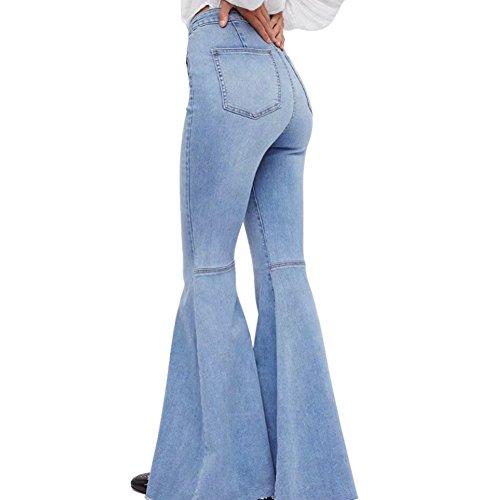 Bell clair Mena Bleu Taille Jeansor vas Bottom haute couture Jean Femmes tRvxq4Rw