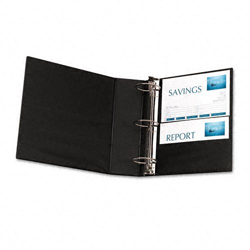 Avery : Durable EZ-Turn Ring Reference Binder, 8-1/2 x 11, 3in Cap, Burgundy -:- Sold as 2 Packs of - 1 - / - Total of 2 Each