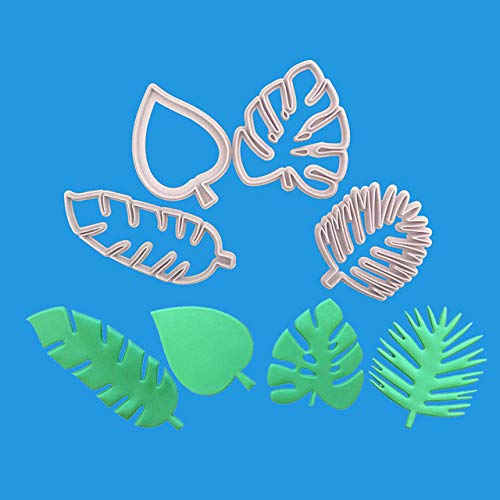 Astra Gourmet Tropical Leaf Cookie Cutters - Hawaiian Palm Leaves Fondant Cutters Set for Gum Paste, Sugarcraft Candy, Luau Cake -