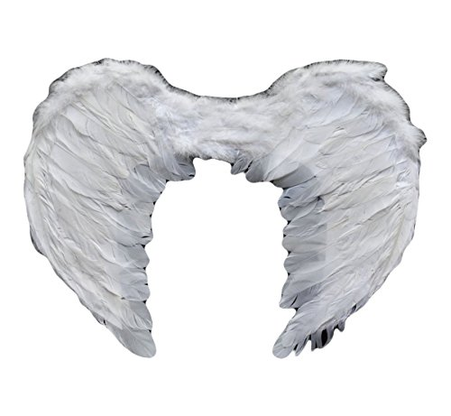 Feather Halloween Sexy Dark fallen Angel wings costumes with Headdress (White) (Sexy Gay Halloween Costumes)