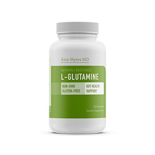 L-Glutamine Capsules from The Myers Way Protocol – Helps Beat Sugar Cravings & Support Healthy Weight Loss – Dietary Supplement, 120 Capsules 850 mg per capsule – From Dr. Amy Myers