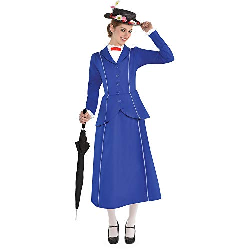 SUIT YOURSELF Mary Poppins Halloween Costume for Women, Mary Poppins, Small, Includes Hat]()