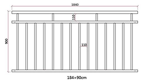 Edelstahl Franz/ösischer Balkon Gel/änder Balkongel/änder 90 x 184 cm V2Aox