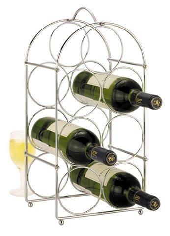 wire wine rack. Chrome 7 Bottle Wire Wine Rack By Zodiac I