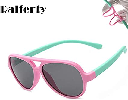 Lenses Color: Black, Frame Color: Picture Color Utini Ralferty Flexible TR90 Kids Sunglasses Polarized Oval Sun Glasses UV400 Eyewear Accessories Child Girls Boys Goggles Shades 843