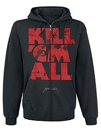 Metallica Men's Kill Em All Mutated Zipped Hoodie Black