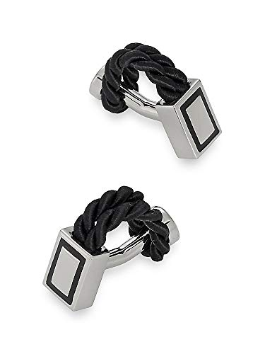 Paul Fredrick Men's Twisted Rope Cufflinks Black 000