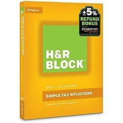 H&R Block Tax Software Basic 2016 + Refund Bonus Offer PC/Mac Disc [Old Version]