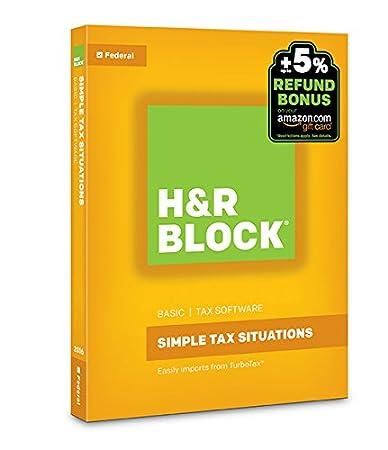 H&R Block Tax Software Basic 2016 + Refund Bonus Offer PC/Mac Disc