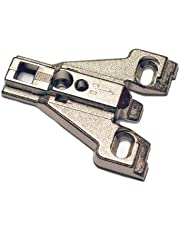 Mounting Plate, 0 mm, Face Frame, Euro Concealed, Nickel