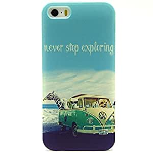 Iphone 5S Case, Topforcity® Soft TPU Cover Cases for iPhone 5 5S with Screen Protector (Design NY09#)