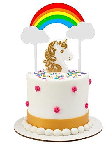 Amazon Unicorn Cake Food Cupcake Decoration Toys Decorating Topper Kit Bright Rainbow Candle Kitchen Dining