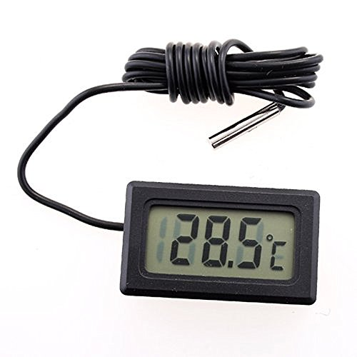 Cikuso Termometro de refrigerador frigorifico Digital LCD TPM-10