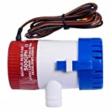 Online Gym Shop CB16446-FDS-TL29262 12V 2.0A 500 GPH Electric Bilge Pump Marine Boat Yacht Submersible
