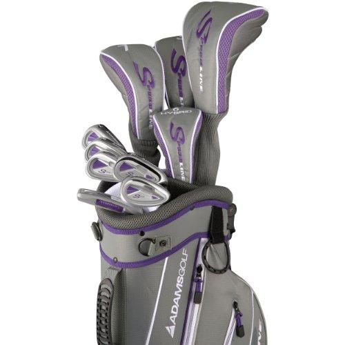 Adams Golf Speedline Steel Uniflex Set, Right Hand, Gray/Purple F7414403