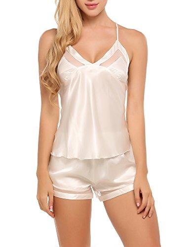 ekouaer-sexy-satin-pajama-shorts-set-strappy-silk-sleepwear-for-women