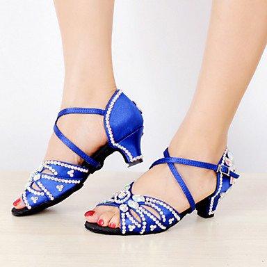 Latino Zapatos blue de Tacón Stiletto Azul baile Negro Personalizables wqZqOa