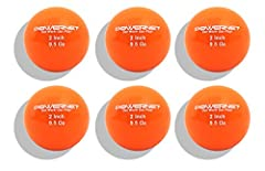 PowerNet Micro Weighted Hitting and Batting Training Balls help hitters drive the barrel through the ball with complete follow-through. A smaller ball forces the hitter's eyes to work better which results in a more efficient path. The sand fi...