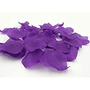 1000PCS Brial Shower Artificial Fabric Rose Silk Flower Petals Table Scatters for Wedding Romantic Night Purple Prom Ball Party Aisle Decorations Floor Confetti 2