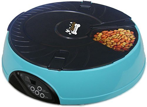 Qpets Automatic Pet Feeder Blue Single