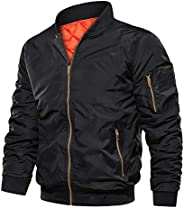 Cotrasen Men's Winter Jacket Light Weight Flying Bomber Jacket with Poc