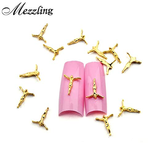 Nail Art Supplies - Alloy Nail Decoration Arrive Gold Jesus Design Metal Nail Decoration,10pcs DIY 3D Alloy Nail Art, Nail Beauty Supplies, Nail Jewelry And Decorations