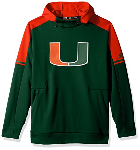 adidas NCAA Miami Hurricanes Adult Men NCAA Sideline Player Hood, Large, Dark Green (Miami Hurricanes Player Ncaa)