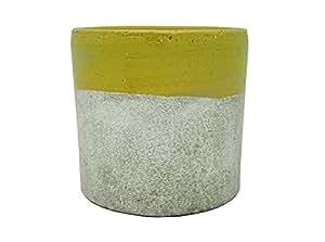 madecomaison cd1155d-a1303Cache-Pot cemento verde 12x 12x 12,5cm