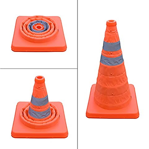 16 Inch Collapsible Traffic Multi Purpose Pop up Reflective Safety Cone - Traffic Cone