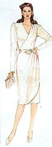 (Vogue Paris Original 1074 Designer Nina Ricci Misses Evening Dress with Wrap Bodice Vintage Sewing Pattern Check Offers for Size)
