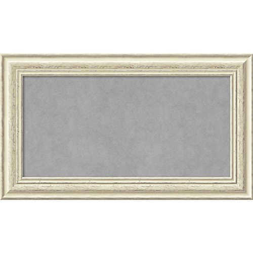 Amanti Art Country White Wash: Outer Size 29 x 17'' Framed Magnetic Board, Medium by Amanti Art