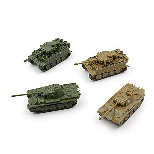 - Baidercor Mini-Sized Military Toys 1:144 Tanks Models Set of 4