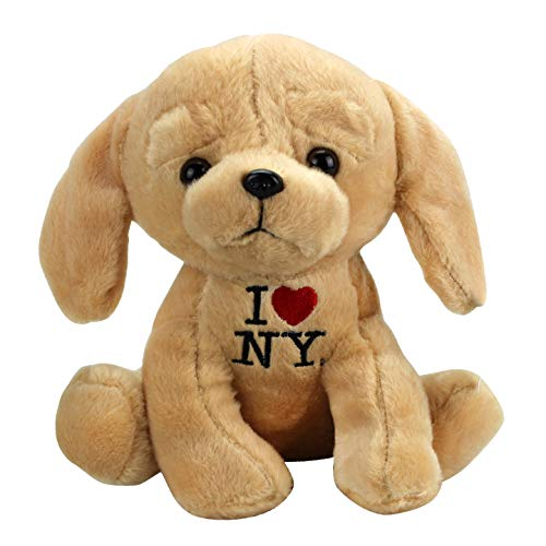 Artisan Owl I Love NY Tan Puppy Plush 8