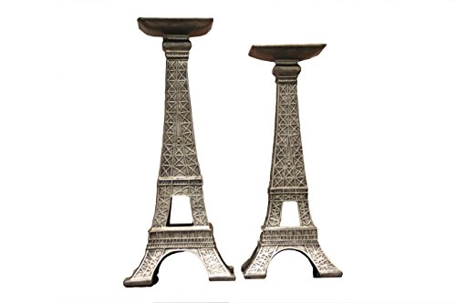 Oh! Trendy™ French Eiffel Tower Candle Holders | Modern Decorative Eiffel Tower Candleholder Set Home Decor – 2 Piece Set by Oh! Trendy