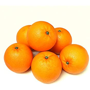 ALEKO 6AFORG Decorative Lifelike Realistic Artificial Fake Fruit Decor Oranges Lot of 6