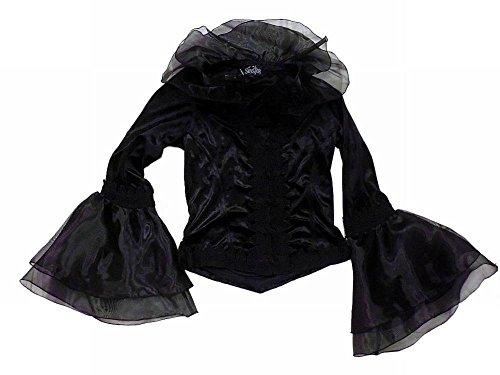 (シニスター) sinister ドラキュラ伯爵夫人の立ち襟ベロア地トップス 黒