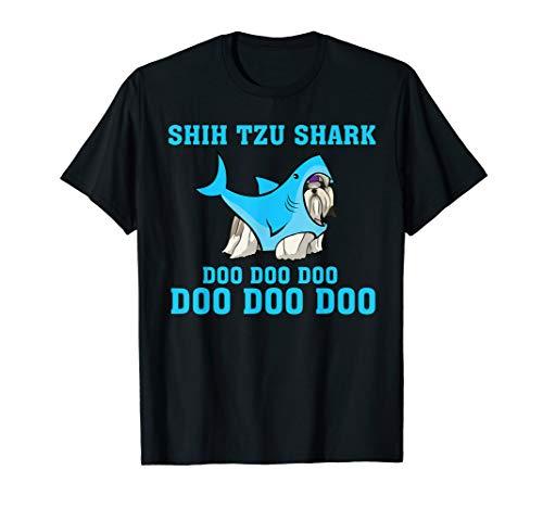 Shih Tzu Shark Doo Doo Doo Tshirt Funny Shih Tzu Lover Gifts