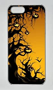 Halloween 002 Iphone 5 5S Hard Shell with Transparent Edges Cover Case by Lilyshouse