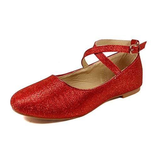 Nova Utopia Toddler Little Girls Dress Ballet Flat Shoes (Size 9-4)