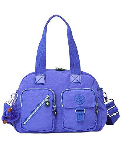 Convertible Organizational Satchel Handbag Purple Medium (Convertible Slip Tote)