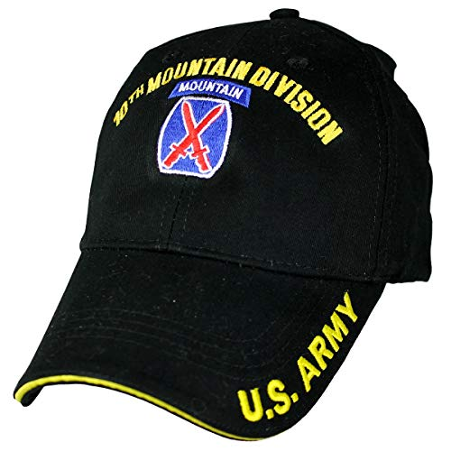 Eagle Crest 10th Mountain Division Low Profile Cap Black