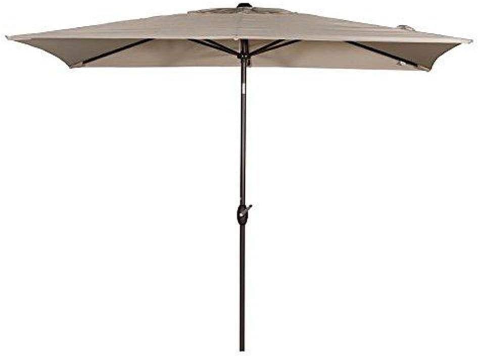 abba patio rectangular patio umbrella outdoor market table umbrella with push button tilt and crank for garden lawn deck backyard pool 6 6 by