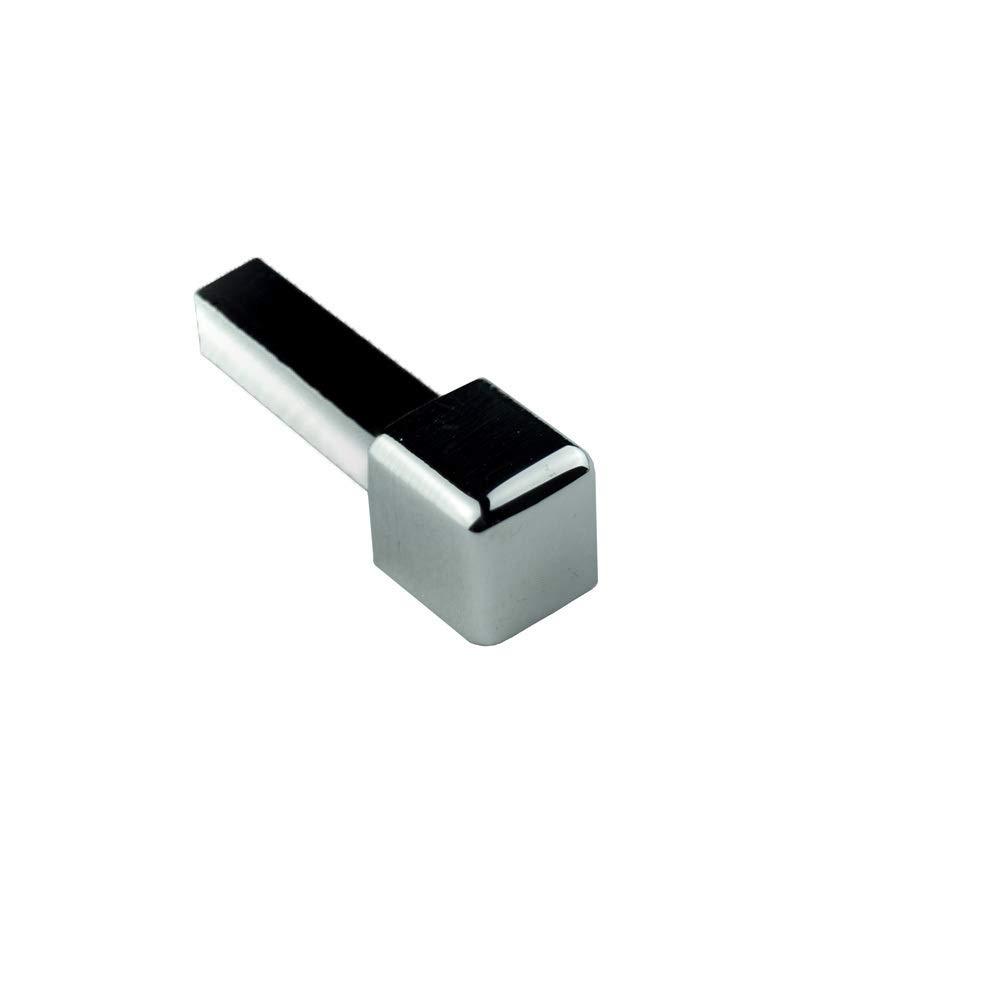 Quadro Edelstahlschiene Fliesenprofil Fliesenschiene Edelstahl V2A L250cm 11mm gl/änzend