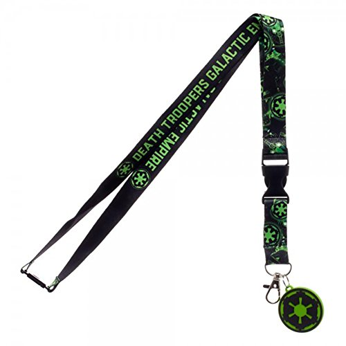 Star Wars Rogue One Empire Lanyard with Rubber Charm and Collectible (The Office Halloween Episode Joker)