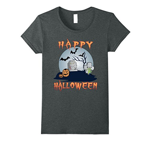 Womens SCARY SPOOKY HAPPY HALLOWEEN T-SHIRT TEE XL Dark (Haunting Ground All Costumes)