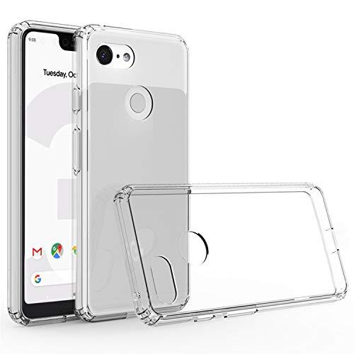 Cubevit Google Pixel 3 XL Case, Clear Hard PC TPU Hybrid 2 in 1 Protective Case, Slim Transparent Shock Absorption & Scratch Resistant Cover Google Pixel 3 XL 2018