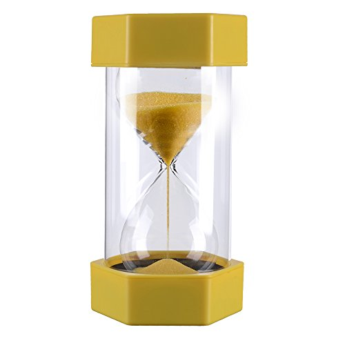 3 Minutes Plastic Yellow Sand Timer, Time Management System Sandglass Hourglass Precise Sand Clock for Office (Sand Time)