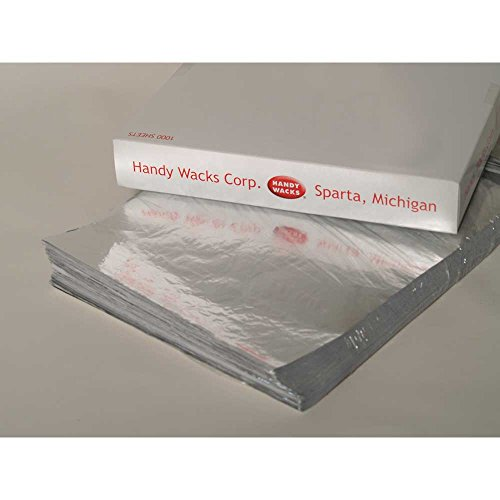 Handy Wacks Foil Laminated Sandwich Wrap, 16 x 14 inch - 500 per pack -- 2 packs per case. by Handy Wacks