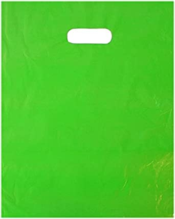 Amazon.com: 50 Bolsas de 12 x 15 plástico color verde lima ...